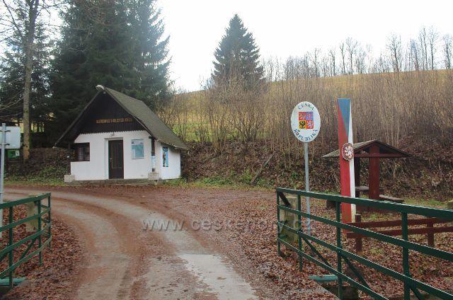 Bartošovice - česká strana hraničního přechodu do Polska
