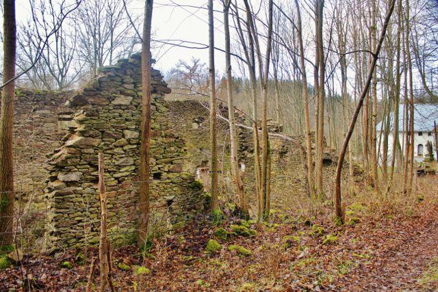 Niemojów - ruiny zámečku chátrajícího od roku 1945 až do současnosti