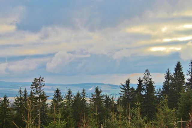 Niemojów - pohled z vrcholu Czerniece k Českým Petrovicím