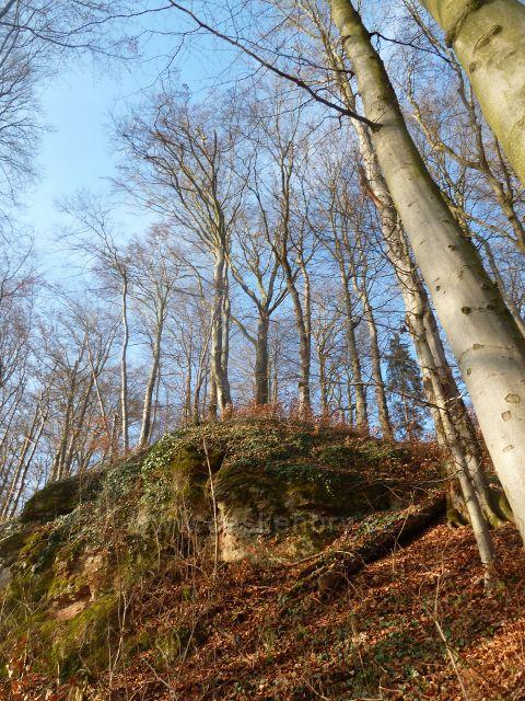 Žampach - skalnatý vrchol hradního vrchu Žampach
