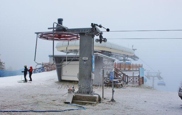 Šerlich - horní stanice lanovky polského  Skiareálu Zieleniec