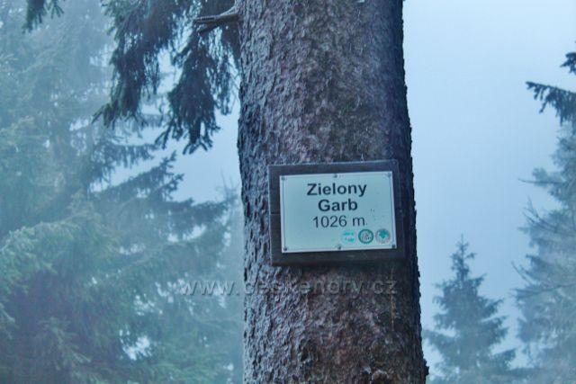 Sedloňov - označení vrcholu hraničního vrchu Zielony Garb na polské straně hranice