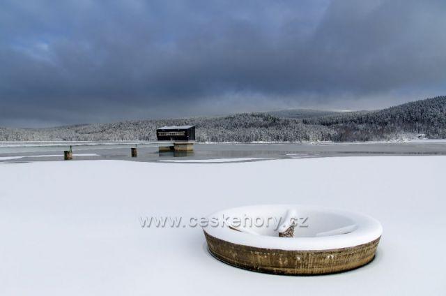 Zima na Josefodolské přehradě 10.01.2021