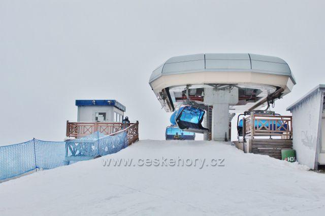 Šerelich - horní stanice lanovky Ski areálu Zieleniec