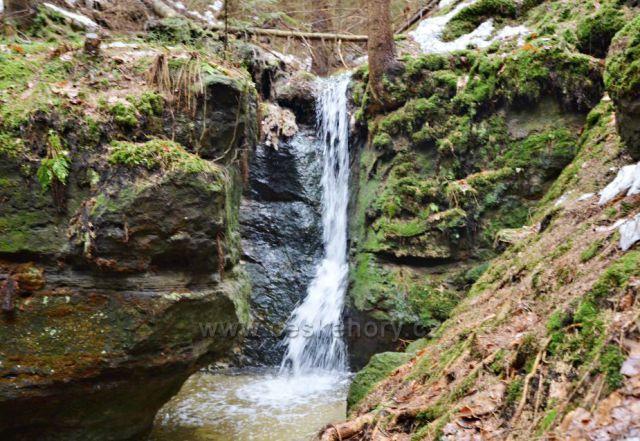 Míšeňský vodopád-výška 3 m