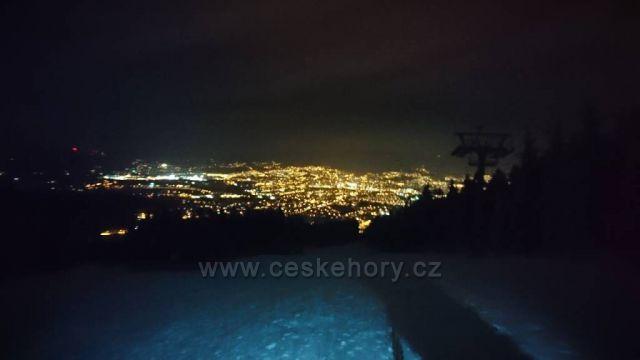 Noční Liberec ze Skalky