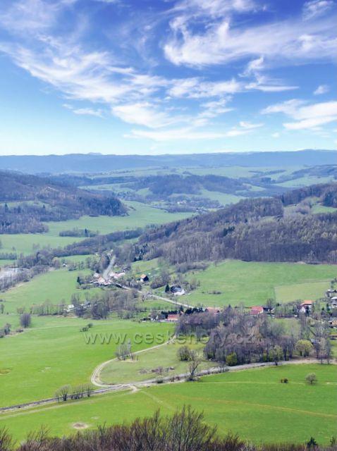 Výhled ze Zámeckého vrchu