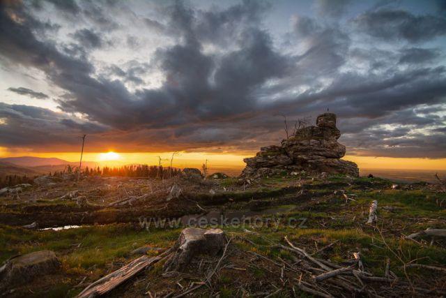 Podvečer na Táborských skalách