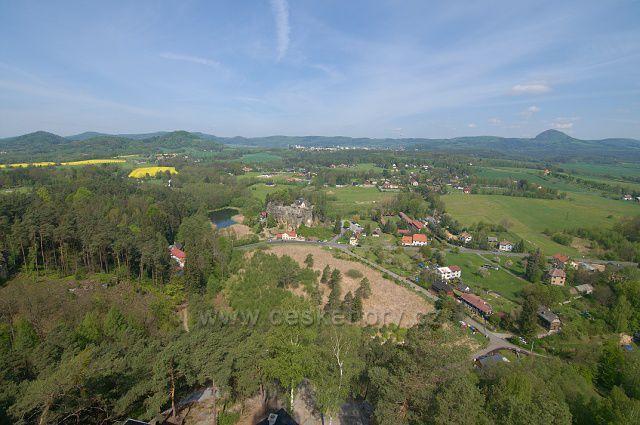 Výhled z rozhledny Na Stráži - Sloup v Čechách.