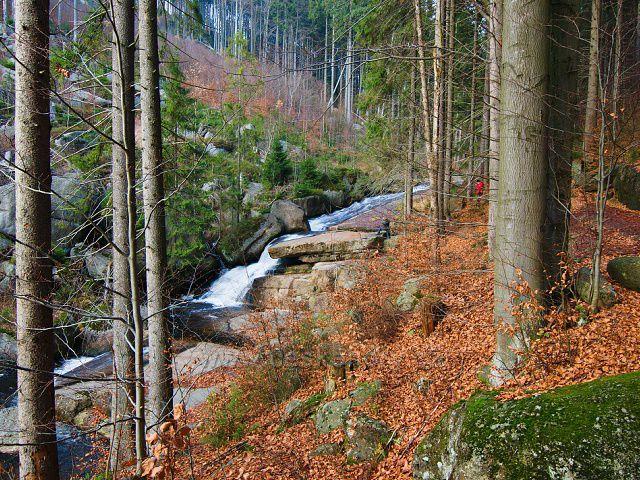 Černá Desná - Plotnový vodopád.