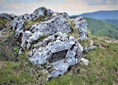 Drienok - pamätná tabuľa k 30. výročiu SNP.