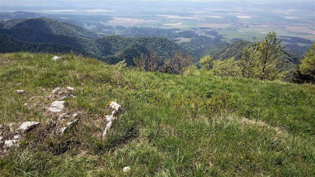 Turčianske Teplice z vrcholu Drienok.