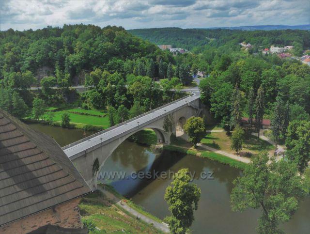 Most přes řeku Ohři - Loket