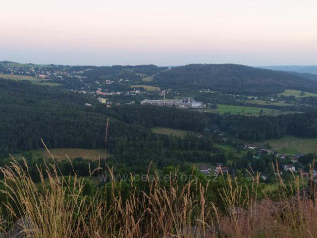 Střední vrch v Orlických horách, kde jsem stanoval.
