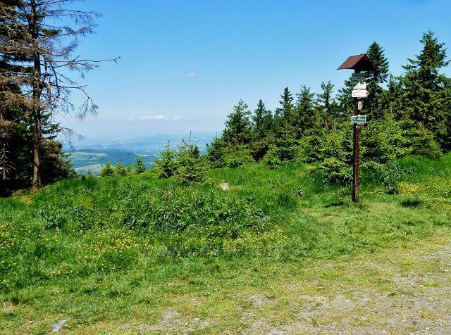 Turistický rozcestník Polomský kopec