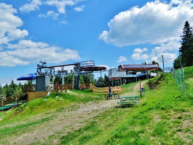 Šerlich - Horní stanice polské lanovky sloužící v letních měsících především  cyklistům