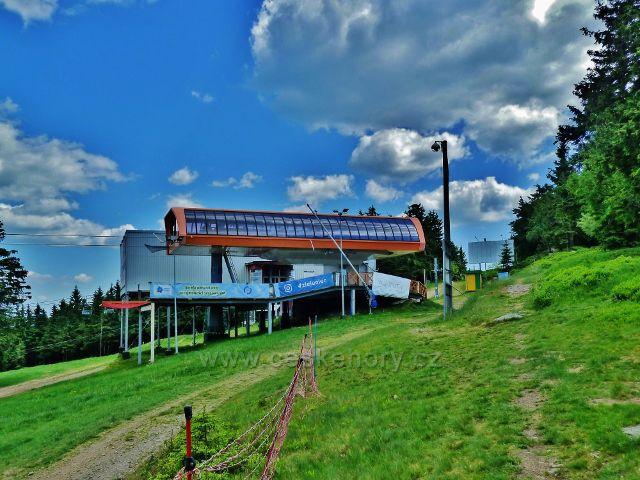 Šerlich - horní stanice polské lyžařské lanovky