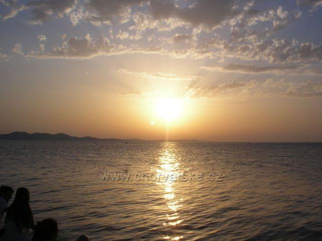 západ slunce v Zadaru 1