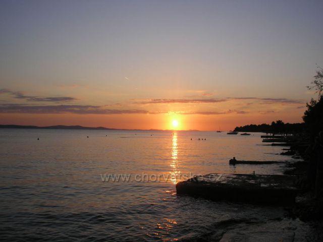 západ slunce v Kožinu