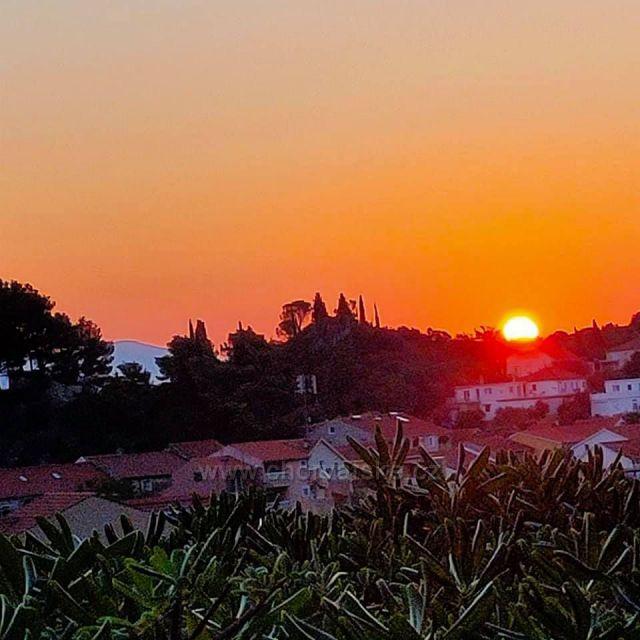Východ slunce na Pelješacu v Trpanji