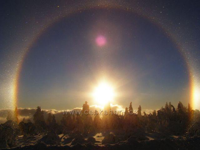 Západ slunce u Klínovce