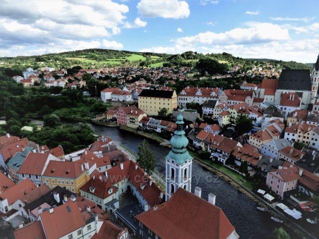 Shlížení ze zámku - Český Krumlov
