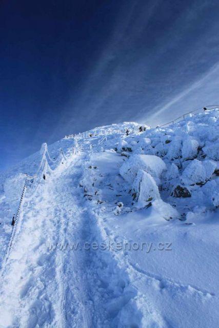 Cestou na Sněžku leden 2011