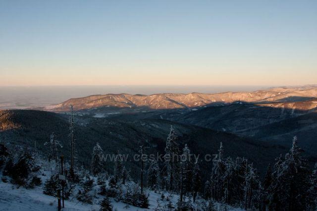 česke hory - při stoupání na Lysou horu - královnu Beskyd