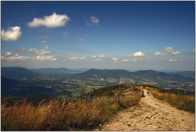 pohledy cestou z Lysé hory
