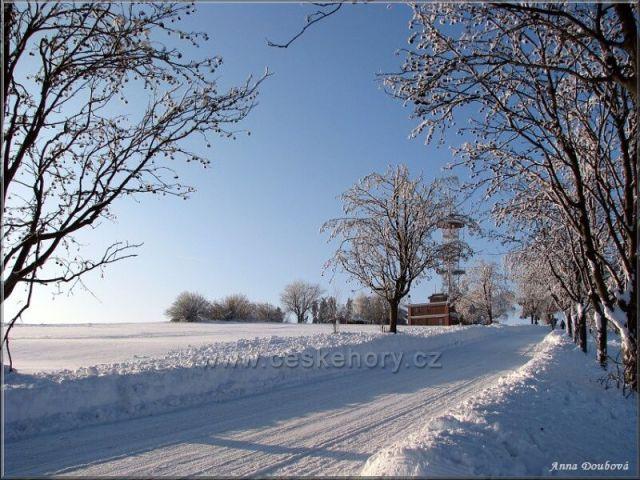 Zima na Kozákově
