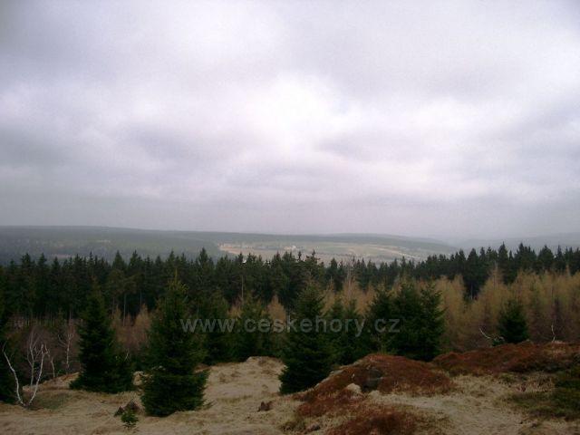 výhled - skalní vrch Čihadlo nad Načetínem