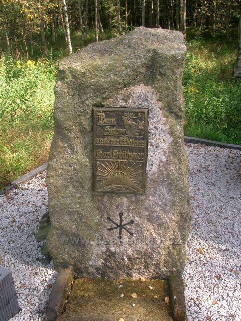 pomník Karl Stülpner - voják,pytlák a dobrodruh