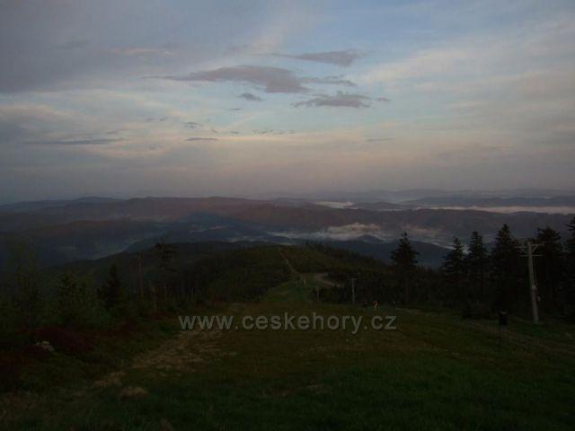 Večerní pohled z Lysé hory