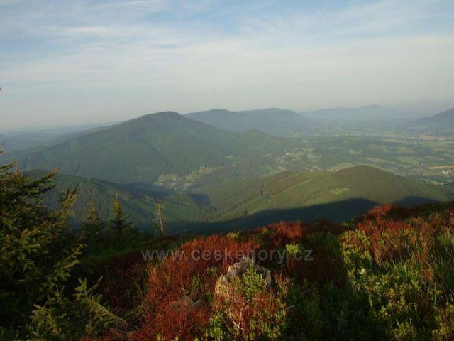 Radhošťský hřeben z Lysé hory
