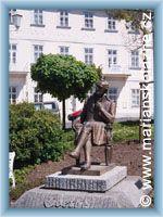 Mariánské Lázně - Bronzový pomník J. W. Goetha
