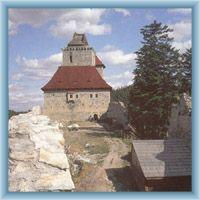 Nádvoří hradu Kašperk