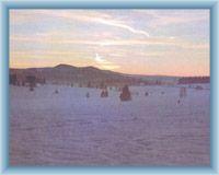 Podvečerní zimní pohled na Roklany
