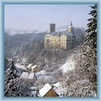 Hrad Rožmberk v zimě