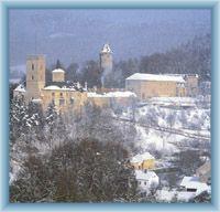 Horní hrad a věž Jakobínka v Rožmberku