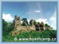Bystřice nad Pernštejnem - Zřícenina hradu Zubštejna