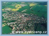 Bystřice nad Pernštejnem - Letecký pohled