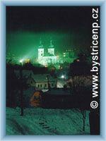 Bystřice nad Pernštejnem v noci
