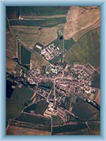Slavonice - Letecký pohled